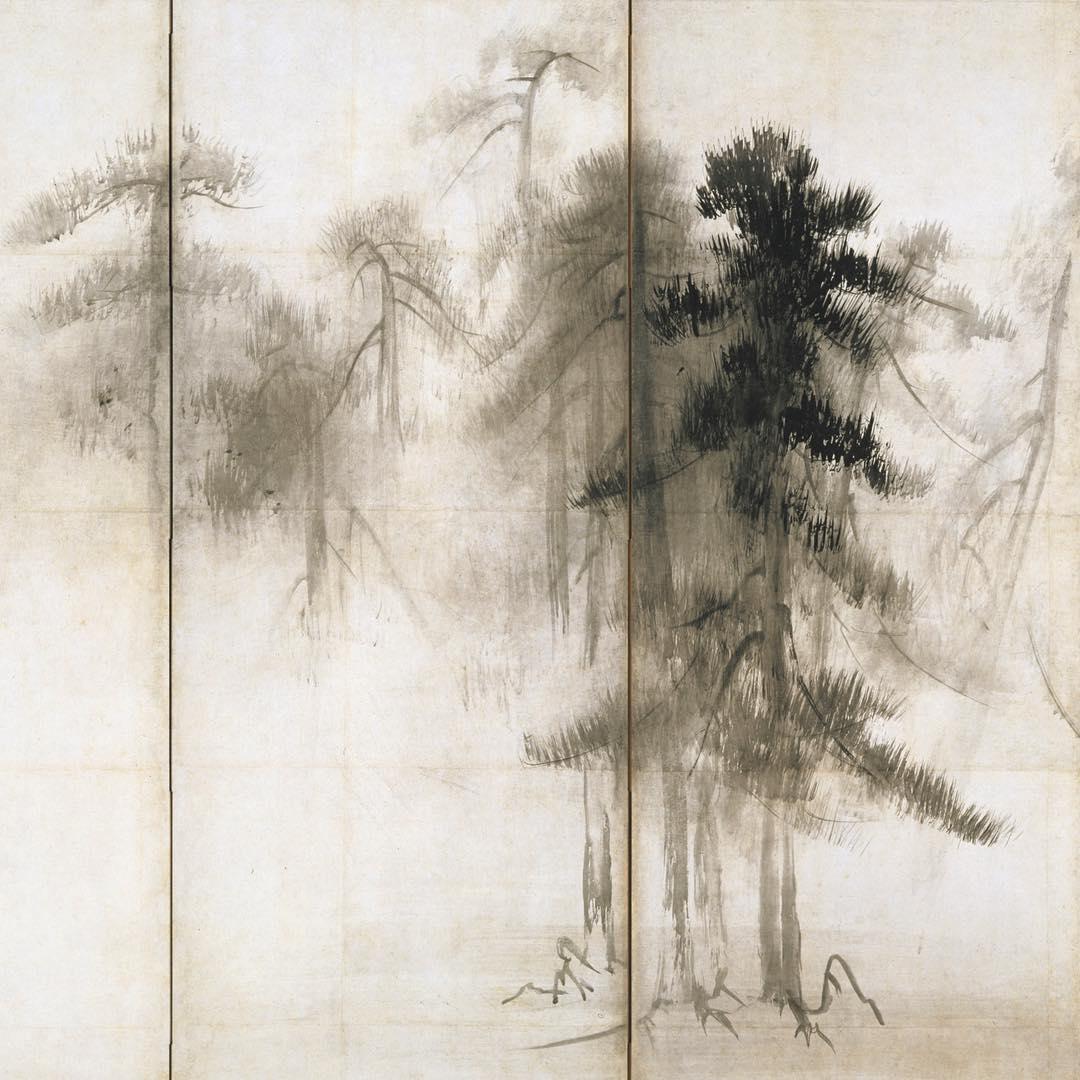 【東博】国宝 松林図屏風(部分) 長谷川等伯筆 安土桃山時代・16世紀