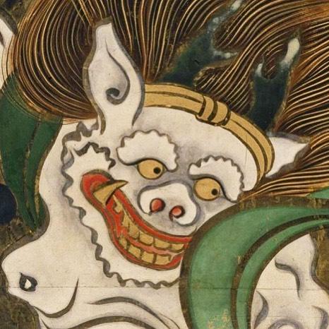 【東博】重文 風神雷神図屏風(部分) 尾形光琳筆 江戸時代・18世紀