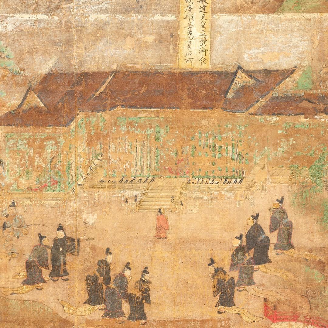 【東博】国宝 聖徳太子絵伝(部分) 平安時代・延久元年(1069)